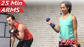 25 Min Arm Workout for Women & Men - Bicep Tricep Workout at Home Arms with Weights Dumbbells by HASfit