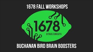 Fall Workshops 2018 - Buchanan Bird Brain Boosters