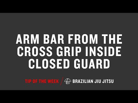 Arm Bar From The Cross Grip Inside Closed Guard
