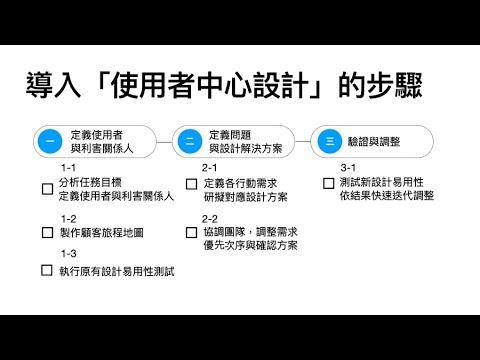 使用者中心設計建議(草案)說明