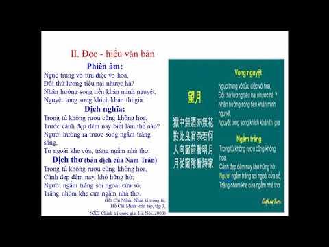 NGỮ VĂN 8 - NGẮM TRĂNG - ĐI ĐƯỜNG (HỒ CHÍ MINH)