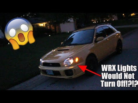Lights Wont Turn Off on WRX? Wiring Issue? (Solved)