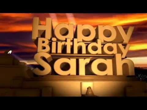 Titel: Happy Birthday Sarah
