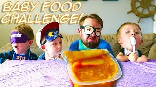 Baby Food Challenge! Family Taste Test Gross Flavors! / The Beach House