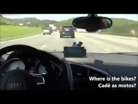 Road Rage between Bikers and a Car Driver......