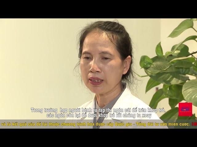 bài tập tại nhà cho người bị bệnh khớp - Bài 10: Cứng khớp trỏ