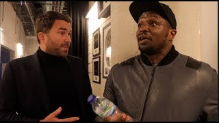 DILLIAN WHYTE & EDDIE HEARN HAVE IT OUT! (RAW & UNCUT) - ON JOSHUA, OFFERS, SPLITS, TERMS, OPPONENTS