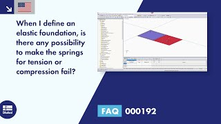 FAQ 000192 | <p>When I define an elastic foundation, is there any possibility to make the springs for tension or compression fail?</p>