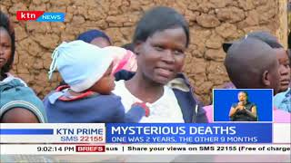 Residents shocked by the mysterious death of two children found dead at their home in Kitale