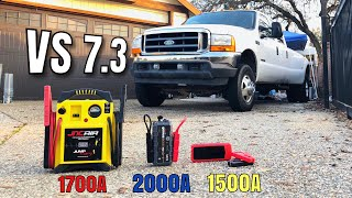 2001 F350 7.3 Diesel -VS- 3 Battery Jumpers, Can any Jump Start it?? NOCO, Audew, JNC Air