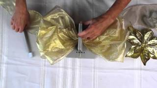 How To Make A Stunning And Super Simple Tree Topper Bow