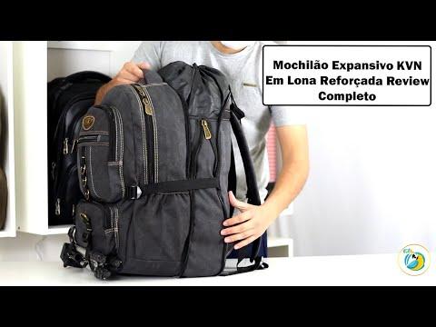 Mochila Masculina Expansiva KVN Reforçada Modelo 7001 Review Completo
