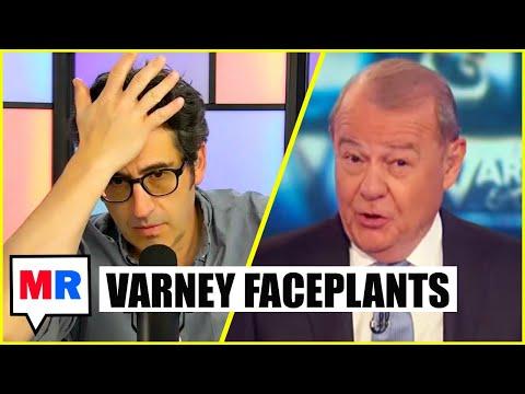 Stuart Varney FACEPLANTS During Elizabeth Warren Rant