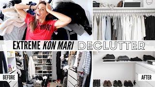 Extreme Konmari Closet Declutter 2019 | What Worked & What Didn't!