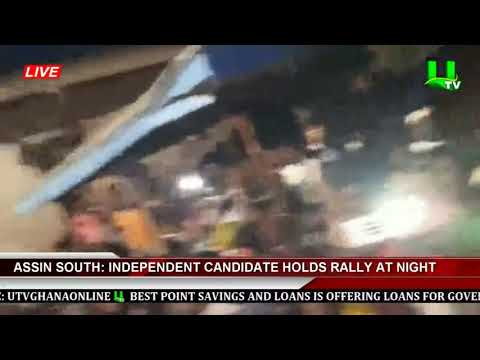 Assin South: Independent Candidate Holds Rally At Night