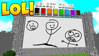 HOW IS THAT EVEN A WORD 😂!? - Minecraft DRAW MY THING | JeromeASF