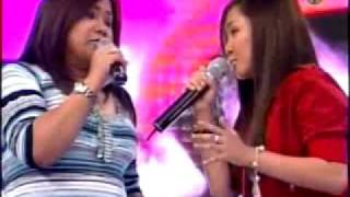 CHARICE AND MOM duet-you and me against the world