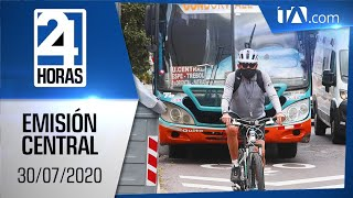 Noticias Ecuador: Noticiero 24 Horas 30/07/2020 (Emisión Central)
