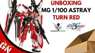 Unboxing: MG 1/100 Astray Turn Red