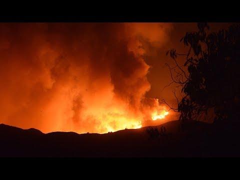 LIVE: Thomas Fire burning in Santa Paula