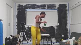 How To Create A DIY Chalkboard Wall With Rustoleum Chalkboard Paint & Magnetic Primer  Home Depot 