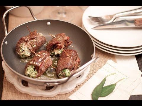 Rollitos de carne rellenos