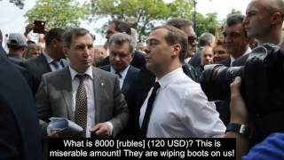 Medvedev to angry Crimeans: We don't have money, cheer up!