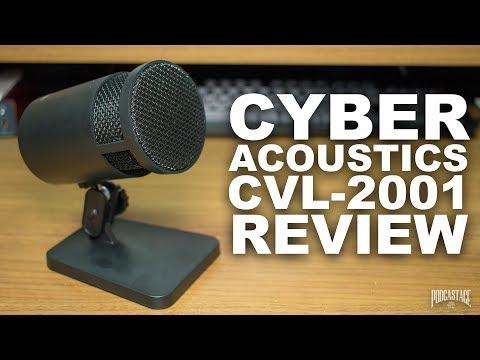 Cyber Acoustics CVL-2001 USB Mic Review / Test