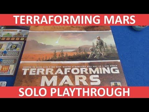 Terraforming Mars - Solo Playthrough - slickerdrips