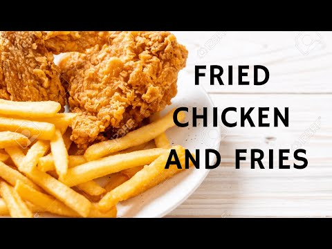 Fried Chicken and Fries - USA Street Food - Between Friends Food Truck - Fried Chicken - Fries