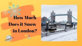 How Much Does it Snow in London?