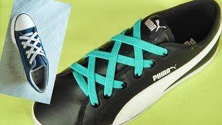 〔靴紐の結び方〕カジュアルなスニーカーにぴったりの靴ひもの通し方 how To Tie Shoelaces  〔生活に役立つ!〕