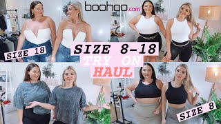SIZE 8 VS. SIZE 18 TRY THE SAME OUTFITS FROM BOOHOO 👚 JAZ HAND
