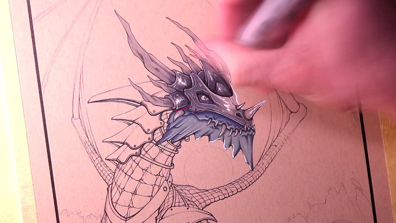 drawing an armored dragon by lethal chris
