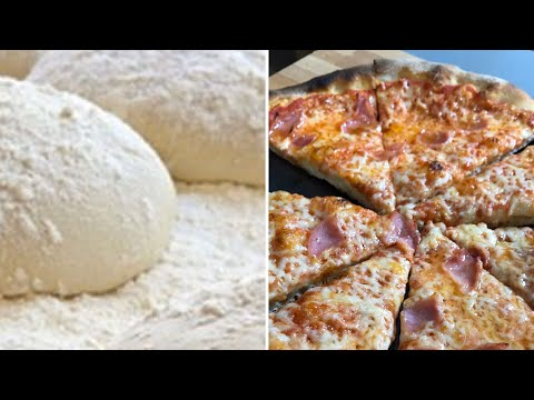 Masa pizza Italiana fina y crujiente paso a paso.