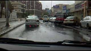 preview picture of video '25.11.2009 11:00 AM -Raining in Jeddah [Al Falah Road & Balad]'
