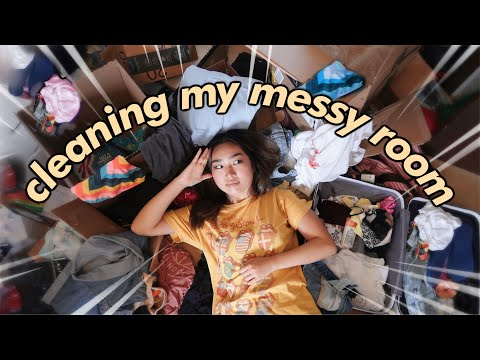 cleaning my FILTHY room for the first time in 6 months | JENerationDIY