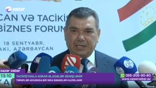 Azerbaijan- Tajikistan Agribusiness Forum was held
