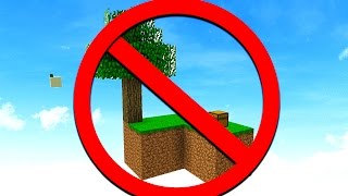 How To NOT Survive On Minecraft SKYBLOCK!
