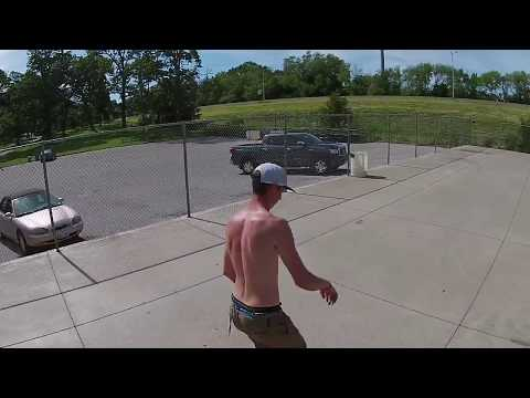 Drone_dude Filming Skateboarder In Fairview Park Decatur Illinois