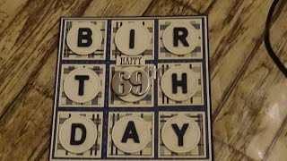 137 Male Birthday Card Using Retired Stampin Up Papers