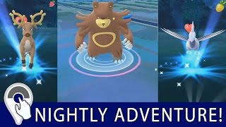 Mareep  - (Pokémon) - Pokémon GO Nightly Adventure! Wild Ursaring, Stantler, Skarmory, 86% Ditto, Mareep, Xatu and more!