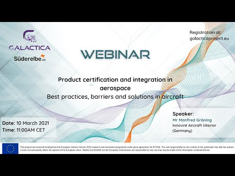 GALACTICA Webinar Product certification and integration in ...