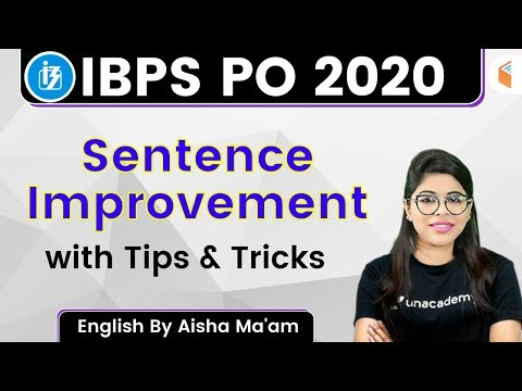 5:00 PM - IBPS PO 2020 | English by Aisha Rasheed | Sentence Improvement with Tips and Tricks