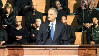 Attorney General Eric Holder Interrupted by Protestors in Atlanta