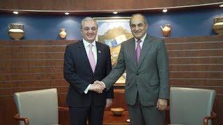 Встреча министра иностранных дел с президентом Палаты представителей Кипра Димитрисом Силлурисом