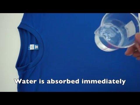 Vivid Supercool Microfiber Jersey Absorption Test