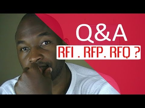 What is RFI RFP RFQ and EOI