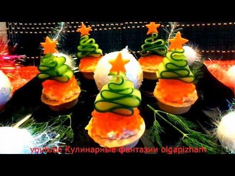 Праздничные вкуснейшие закуски на новогодний стол в необычном оформлении