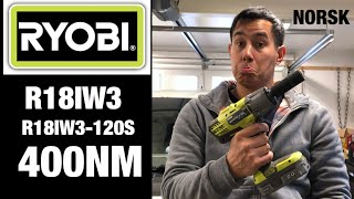 Ryobi R18IW3 - Duger den til hobbybruk?
